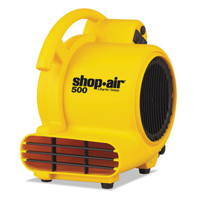 "Mini air mover, yellow, 8"", plastic, 500 cfm, sold as 1 each"