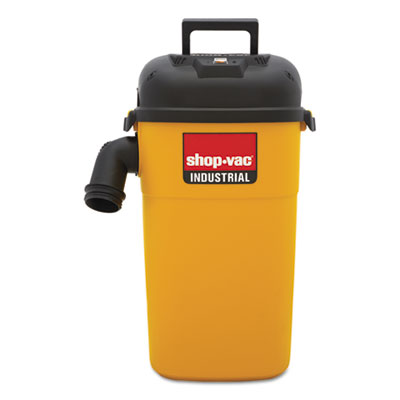 Wall mount vac, 5gal capacity, 17lb, yellow/black, sold as 1 each