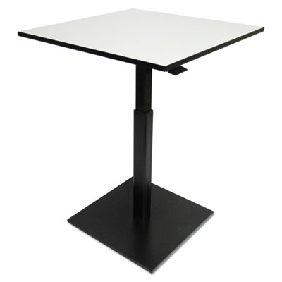 Hospitality series height adjustable table, 31.5 x 31.5 x 29.5 - 42.5,gray/black, sold as 1 each