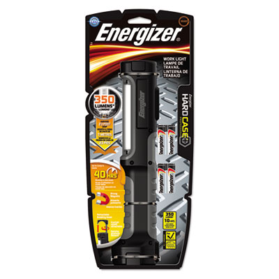 Hard case work flashlight w/4 aa batteries, black, sold as 1 each