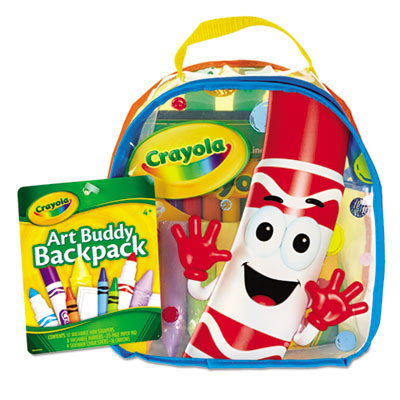 Art buddy backpack, 38 pieces, ages 4 and up, sold as 1 each