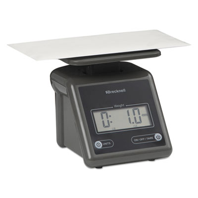 Electronic postal scale, 7 lb capacity, 5 1/2 x 5 1/5 platform, gray, sold as 1 each