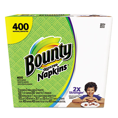 Quilted napkins, 1-ply, 12.2 x 12, white, 200/pack, 400/carton, sold as 1 carton, 2 package per carton