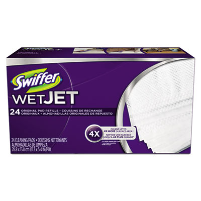 "Wetjet system refill cloths, 11.3"" x 5.4"", white, 24/box, sold as 1 box, 24 each per box"