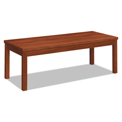 Laminate occasional table, rectangular, 48w x 20d x 16h, cognac, sold as 1 each