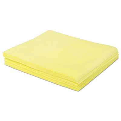 Dust cloths, 18 x 24, yellow, 500/carton, sold as 1 carton, 500 each per carton