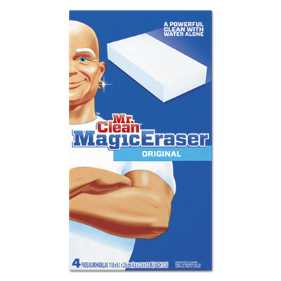 "Magic eraser foam pad, 2 2/5"" x 4 3/5"", white, 4/box, sold as 1 box, 4 each per box"