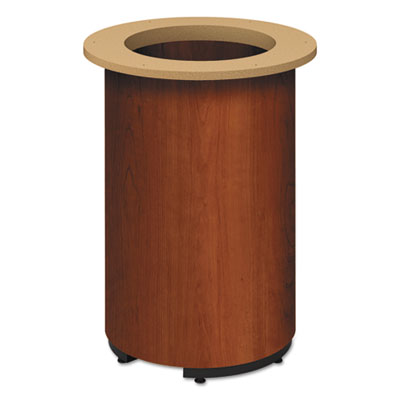 "Laminate cylinder table base, 18"" dia. x 28h, cognac, sold as 1 each"