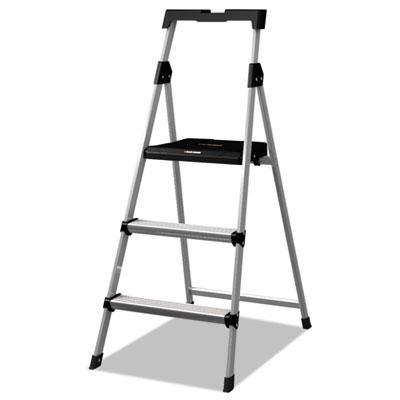 Aluminum step stool ladder, 250lb cap, 20w x 31 spread x 47h, sold as 1 each