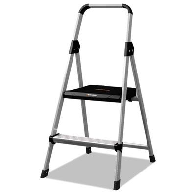 Aluminum step stool ladder, 250lb cap, 18 1/2w x 23 1/2 spread x 38 1/2h, sold as 1 each