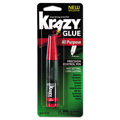 All purpose krazy glue, 4 g, clear, sold as 1 each
