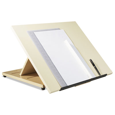 Portable drafting table, 24w x 20d x 3h, almond, sold as 1 each
