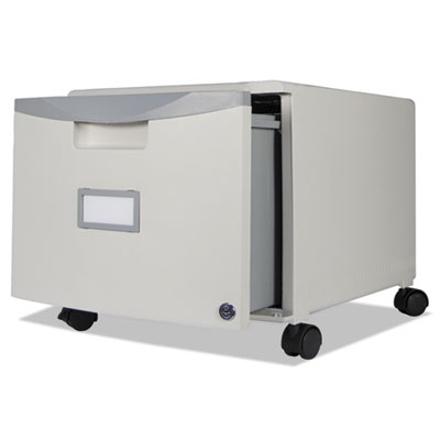 Single-drawer mobile filing cabinet, 14-3/4w x 18-1/4d x 12-3/4h, gray, sold as 1 each