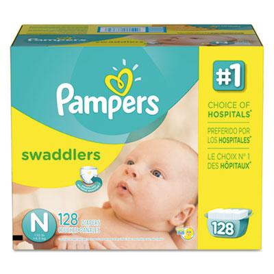 Swaddlers diapers, newborn: 4 - 10 lbs, 128/carton, sold as 1 carton, 128 each per carton