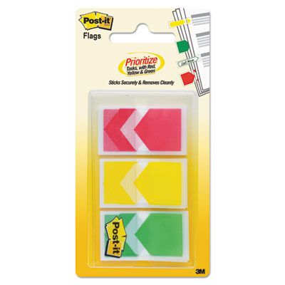 "Arrow 1"" flags, red/yellow/green, 1 x 1 3/4, 20/dispenser, 3 dispensers/pack, sold as 1 package"