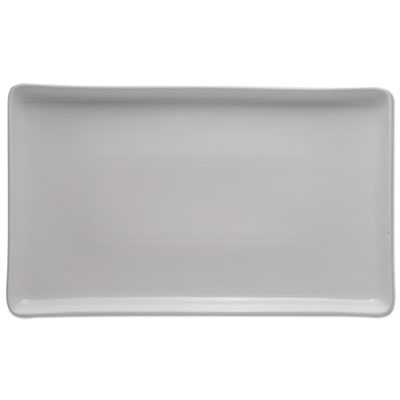 Serving tray, porcelain, white, 16 x 9 1/4, sold as 1 each