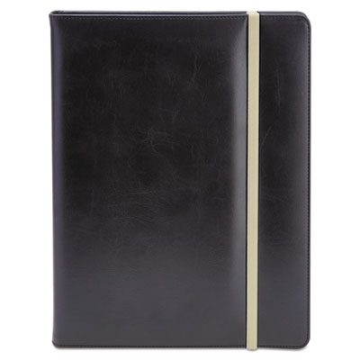 Padfolio, 8 1/2 x 11, vinyl, black, sold as 1 each