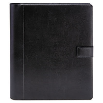 Standard pad holder, 8 1/2 x 11, vinyl, black, sold as 1 each