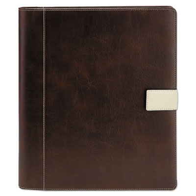 Standard pad holder, 8 1/2 x 11, vinyl, brown, sold as 1 each