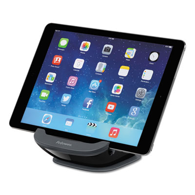 I-spire series tablet suctionstand, 5 x 5 3/4 x 3 3/8, black/gray, sold as 1 each
