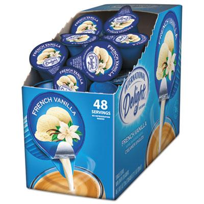 Flavored liquid non-dairy coffee creamer, french vanilla, 0.4375 oz cup, 48/box, sold as 1 box, 48 each per box