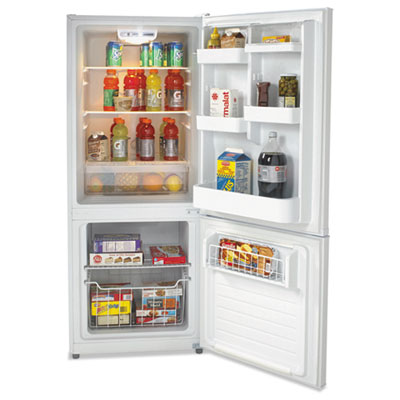 Bottom mounted frost-free freezer/refrigerator, 10.2 cubic feet, white, sold as 1 each
