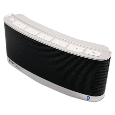 Blunote 2 portable wireless bluetooth speaker, black/silver, sold as 1 each