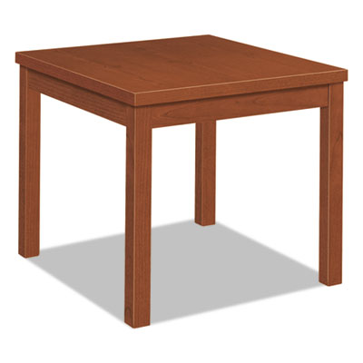 Laminate occasional table, square, 24w x 24d x 20h, cognac, sold as 1 each