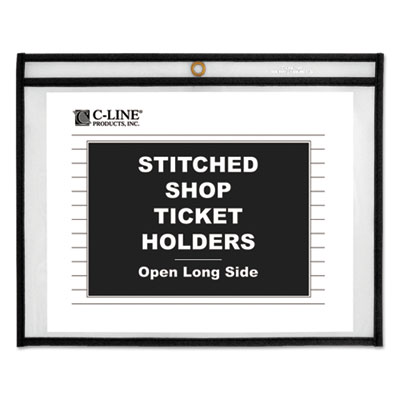 "Shop ticket holders, stitched, sides clear, 50"", 11 x 8 1/2, 25/bx, sold as 1 box, 25 each per box"
