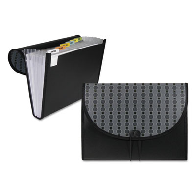 """Circle pattern exp file, string/button, letter, 1 1/2"""" exp, 7-pocket, black/gray, sold as 1 each"""