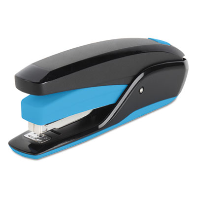 Quicktouch reduced effort full strip stapler, 20-sheet capacity, black/blue, sold as 1 each