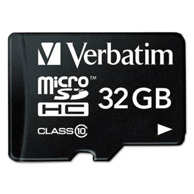 Microsdhc card w/adapter, class 10, 32gb, sold as 1 each