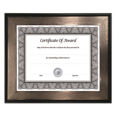 Director series document and photo frame, 8 1/2 x 11, mahogany/silver frame, sold as 1 each