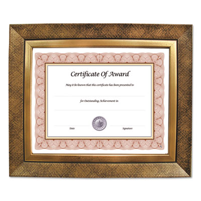 Executive series document and photo frame, 8 1/2 x 11, gold frame, sold as 1 each