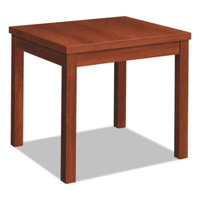 Laminate occasional table, rectangular, 24w x 20d x 20h, cognac, sold as 1 each