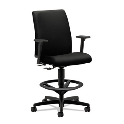 Ignition series low-back task stool, black fabric upholstery, sold as 1 each