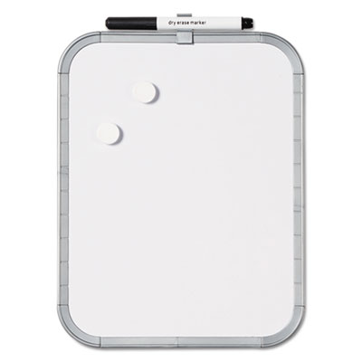 Magnetic dry erase board, 11 x 17, white plastic frame, sold as 1 each
