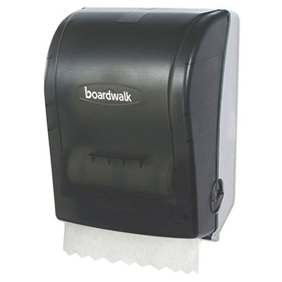 Hands free towel dispenser, 9 3/4 x 16 7/8 x 12 3/8, smoke black, sold as 1 carton