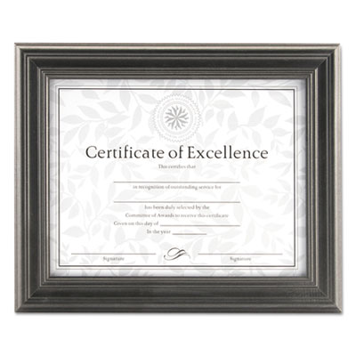 Dimensional solid wood frame, 8 1/2 x 11, pewter frame, sold as 1 each