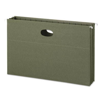100% recycled hanging pockets with full-height gusset, legal, green, 10/box, sold as 1 box, 10 each per box