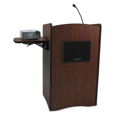 Multimedia smart computer lectern, 25-1/2w x 20-1/4d x 43-1/2h, mahogany, sold as 1 each