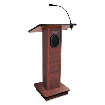 Elite lecterns with sound system, 24w x 18d x 44h, mahogany, sold as 1 each