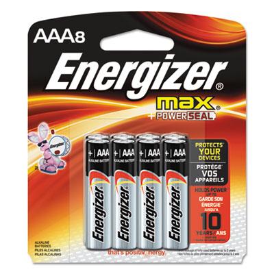 Max alkaline batteries, aaa, 8 batteries/pack, sold as 1 package
