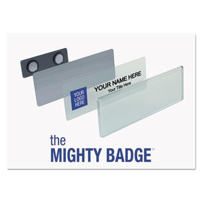 Name badge bulk kit, silver, laser/inkjet, 1 x 3, 50 per kit, sold as 1 kit