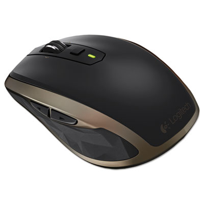 Anywhere mouse mx, wireless, glossy finish, black, sold as 1 each