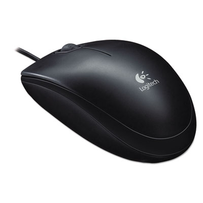 B100 optical usb mouse, black, sold as 1 each