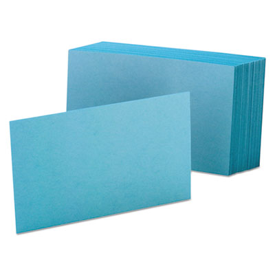 Unruled index cards, 4 x 6, blue, 100/pack, sold as 1 package