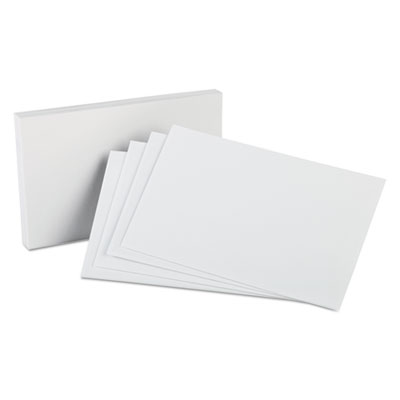 Unruled index cards, 5 x 8, white, 100/pack, sold as 1 package