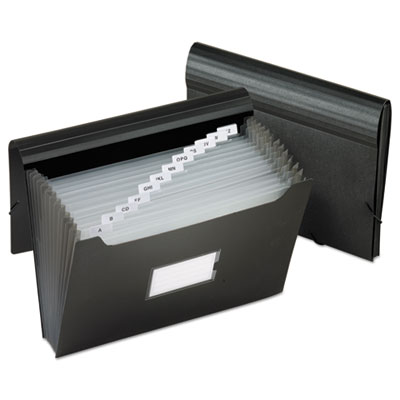Jumbo 13-pocket file, poly, letter, black, sold as 1 each