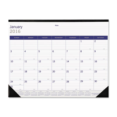 Duraglobe monthly desk pad calendar, 22 x 17, 2016, sold as 1 each